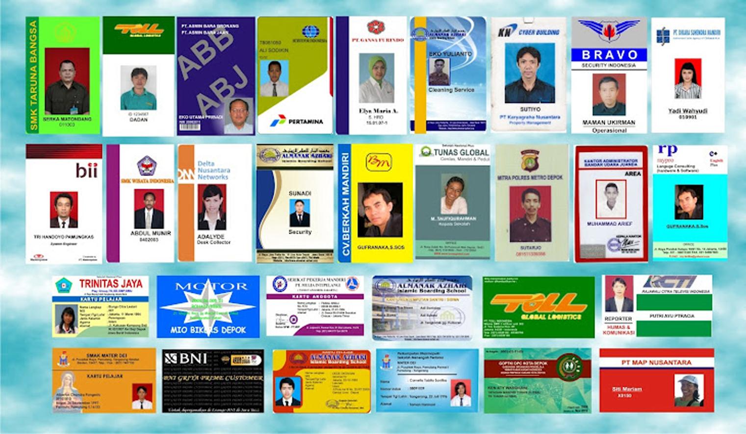 Jasa Cetak Kartu Id Card Jakarta Putra Mandiri